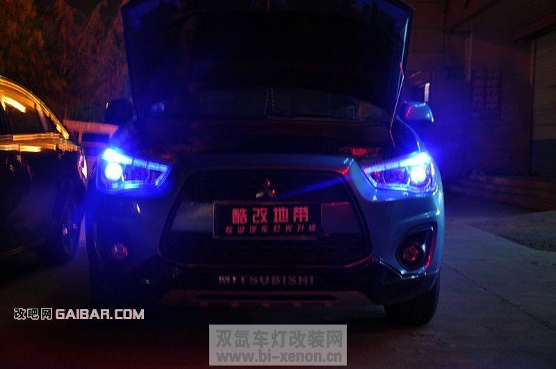 jpg 【泰安酷改地带】三菱劲炫升级博士透镜 恶魔眼 中国汽车照明门户
